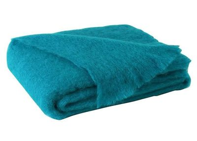 Brushed Mohair Throw Turquoise by Lands Downunder $298.00