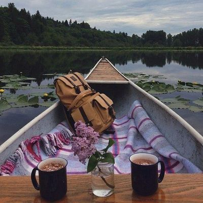 a romantic boat ride on a chilly autumn evening whilst sipping on cocoa with marshmallows.....