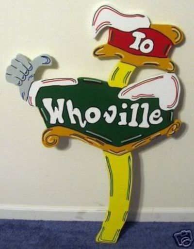 Whoville Direction Sign Christmas Yard Art Decoration photo by ...