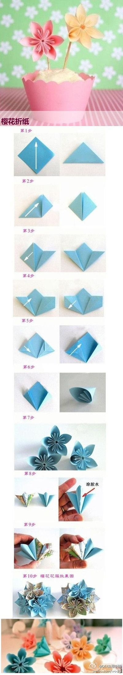 Flower Origami Origami Paper Making Paper Folding Japane