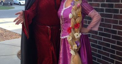 Tangled Rapunzel And Mother Gothel Couple Costume Coolest Halloween Time Juxtapost