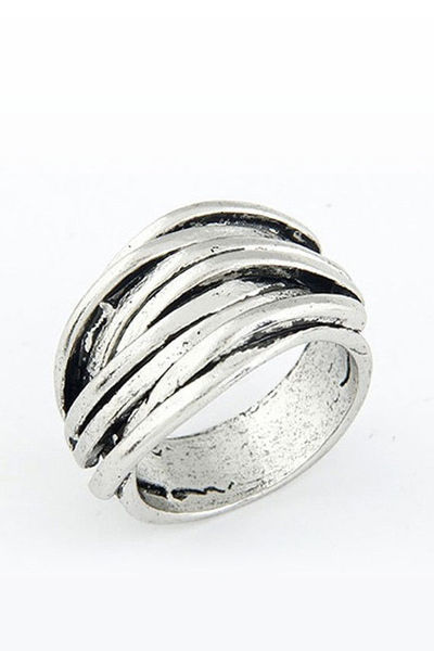 Antique Stripes Plated Ring