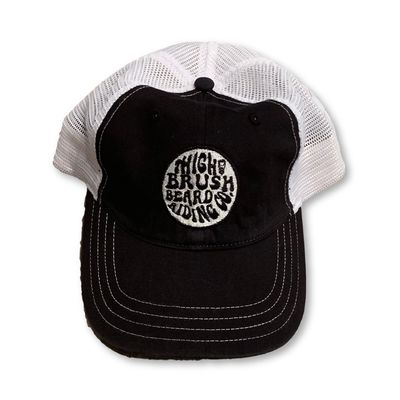 THIGHBRUSH® Beard Riding Company - Unstructured Snapback Hat - Black and White