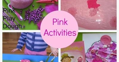 This week we have been playing with the colour PINK!! We have had lots of fun reading the wonderful story Pinkalicious by Victoria and Elizabeth Kann, making wo