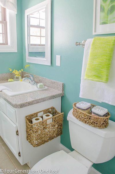 The color composed by sherwin williams emerald interior for Small 3 piece bathroom ideas