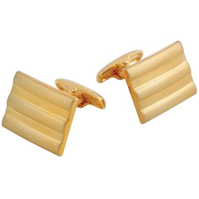 Gold Plated Rectangular Lined Cufflinks �'�799.00