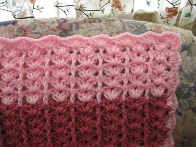 Free Crochet Lacy Shades Of Pink Shells Afghan Pattern Crochet