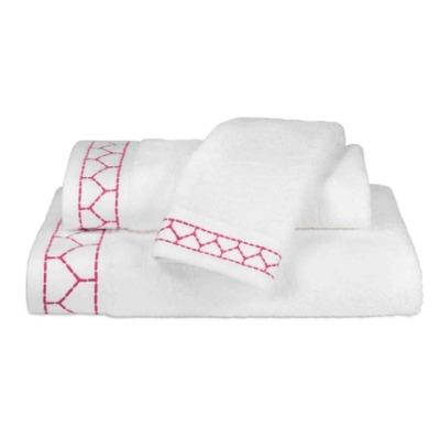 Linah Embroidered Towel Collection Pink $50.00