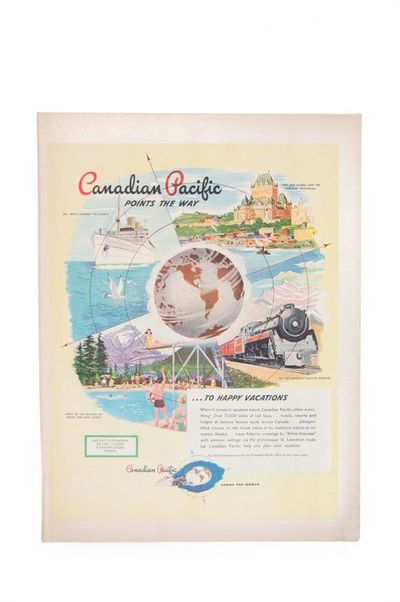 1947 Canadian Pacific Ad Magazine Advertisement Wall Art $11.00