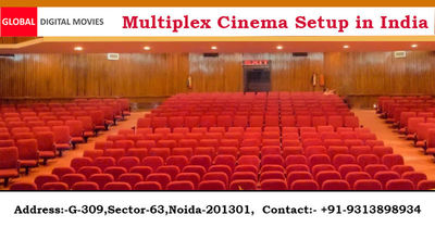 Global Digital Movies is the best place which provides a Multiplex Cinema Setup in India. We are the best service provider to create luxurious multiplex cinema with Brilliant Image Quality and digital sounds. Know more Call: +91-931-389-8934 or visit http...