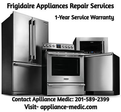 Get affordable frigidaire appliances repair service in NJ. Appliance Medic gives its customers a 1-year service warranty on all repair services! Contact us for any details.