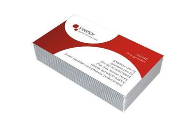 One Sided Visiting Cards