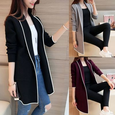 $8.87 Aliexpress - 2020 Plus Size M-3XL Women's Long Sleeve Casual OL Cardigan Spring Slim Solid Color Pocket Jumper Coat Jacket Chaqueta Mujer New. Buy it from Aliexpress.com