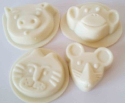 Vegetarian baby soap 3 oz bars, white, essential oils, light scent, no color added. $9.09