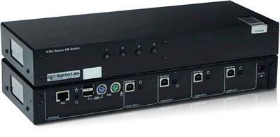 4 Port secure keyboard mouse switch is designed to provide the highest possible computer & peripheral isolation as demanded by government agencies, military and many more