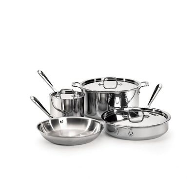 All-Clad - 7 Pc Stainless Cookware Set - 40007