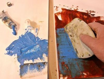 Basic procedures for cold wax painting i bought the - What temperature is too cold to paint outside ...