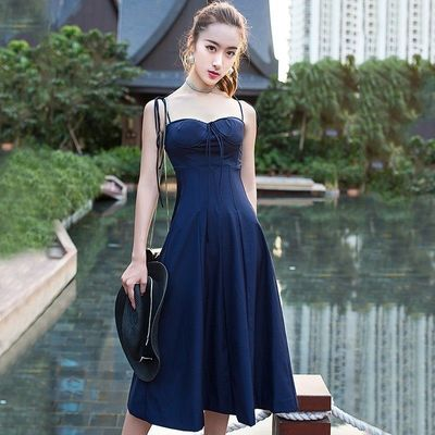 Strapless Slimming High Waisted Frilled Formal Wear Strappy Top Dress - Bonny YZOZO Boutique Store