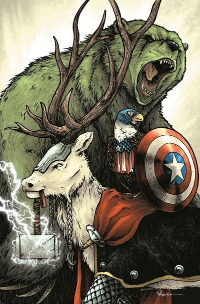 If you've ever wondered what the Marvel Universe would look like if all of the characters were turned into animals, you're going to love this gallery. | See more about marvel, animals and the avengers.