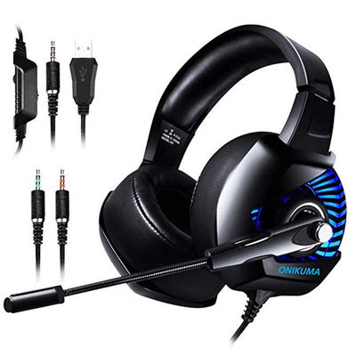 K6 Professional Wired Gaming Headset LED RGB Lighting Headphone 3.5mm Bass Noise Cancelling With Mic