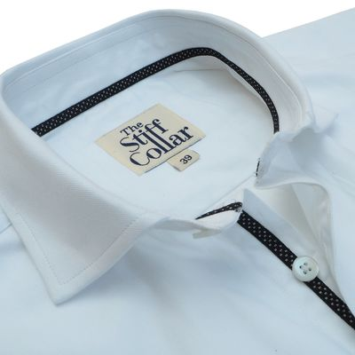 Elvis White Herringbone Shirt �'�1699.00