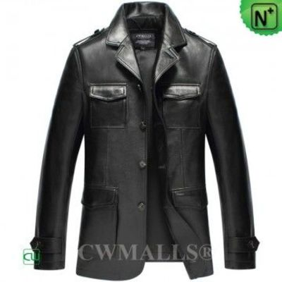 Haute Couture Men Leather Blazer CW808020 | CWMALLS.COM