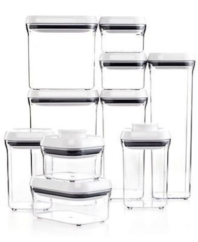 OXO 10-Piece Pop Container Set $100 Received 2 sm. boxes from Emma as a gift.