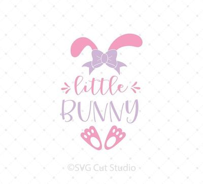 Little Bunny SVG Cut Files for Cricut and Silhouette