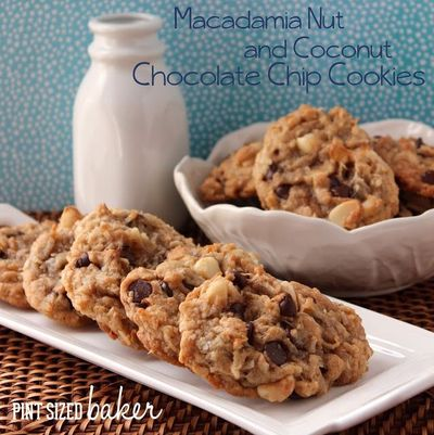 Pint Sized Baker: Macadamia Nut Chocolate Chip Cookies with Coconut