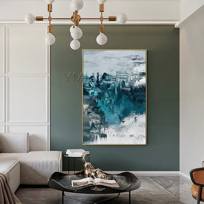 Modern Abstract Acrylic Paintings on Canvas original art blue painting extra Large wall pictures framed wall art cuadros abstractos $116.47
