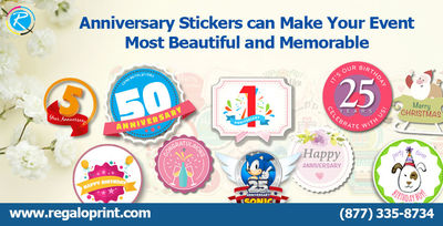 Anniversary-Stickers. To Read this story in details, Visit us @ www.regaloprint.com