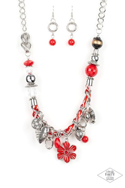 Paparazzi Charmed, I Am Sure - Red $5.00