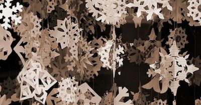 Paper snowflakes...my brother Jack & I made these growing up when we were children...he taught me how to cut them out, he was veey talented at it..pleasant memories...he and I both love to watch it snow..even as adults if he saw the first snow flake a...
