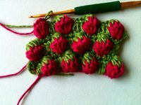 Strawberry stitch tutorial. Looks good enough to eat