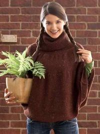 Big Chocolate Cape: #knit #knitting #free #pattern #freepattern #freeknittingpattern #knittingpattern