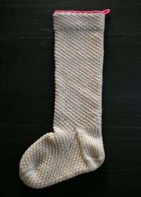 Whit's Knits: Heirloom Christmas Stocking - The Purl Bee - Knitting Crochet Sewing Embroidery Crafts Patterns and Ideas!
