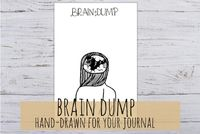 Brain Dump, spread for your bullet journal or agenda, 3 sizes a4, a5, filofax personal, printable