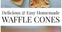 Delicious Homemade Waffle Cones and Bowls are easy to make and so much better than store-bought.