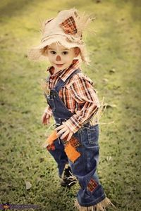 Megan: This is my son Chanler. He is dressed as a scarecrow for his 2nd Halloween. I was determined to make his costume this year, as I was not impressed with..