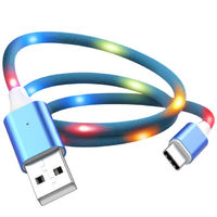 KISSCASE Voice Control Fast Charging LED 2A Micro USB Data Cable for Samsung Xiaomi Huawei