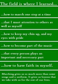 this is so true! I AM PROUD TO BE A COLORGUARD MEMBER! More