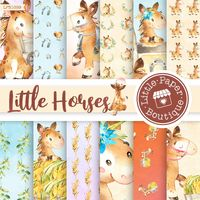 Digital Scrapbooking Horses Digital Paper Pack, Brown Horses, Digital Paper Pack On The Farm Farm Animals Ranch Horse Farm Barn Horse Gallop $3.00