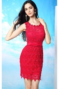 RED LACE SHORT DRESSES