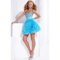 Turquoise Hannah S 27717 - Sequin Dress - Customize Your Prom Dress