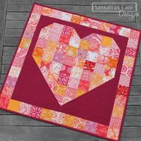 Simple Free Patchwork Heart Pattern.  Show some love anytime of year with this fun simple pattern. Display it on the wall or make it into a ...