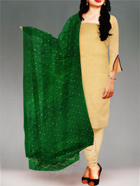 Shop online stylish chiffon dupatta at unnatisilks.com Green color chiffon chunni.It is golden printed dupatta.Team this with matching tunics and crystal studs for a stunning effect! To buy online chiffon dupattas please visit our site http://www.unnati...