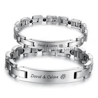 Personalized Custom Couple Promise Bracelets Set for 2 https://www.gullei.com/personalized-simple-couples-magnetic-bracelets-set-for-2.html