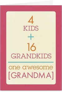 Cardstore makes it easy to personalize and mail Mother's Day cards like Grandma Equation card. Just add your own photos, text and a signature to a simply stated