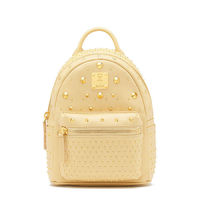 MCM X-Mini Stark Special Studded Backpack In Yellow