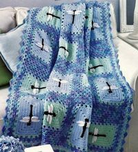 4 Adorable Crochet Afghan Patterns Lady Bug Dragonfly Bumble Bee Butterfly Book 028906038477   eBay